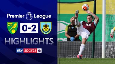 Burnley see off nine-man Norwich