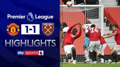 West Ham hold Man Utd at Old Trafford