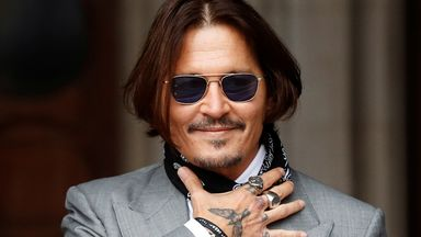 Actor Johnny Depp arrives at the High Court in London, Britain July 16, 2020. REUTERS/Peter Nicholls