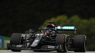 Hamilton debuts new black livery