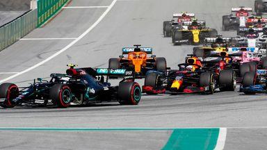 First lap of F1 2020 season
