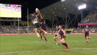 Feldt takes flight for try!