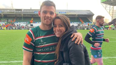 Burrage on lockdown life with her Rugby star boyfriend