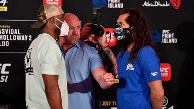 Masvidal vs Usman's tense face-off