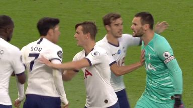 Lloris and Son clash on pitch