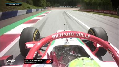 Fire extinguisher ends Schumacher's race