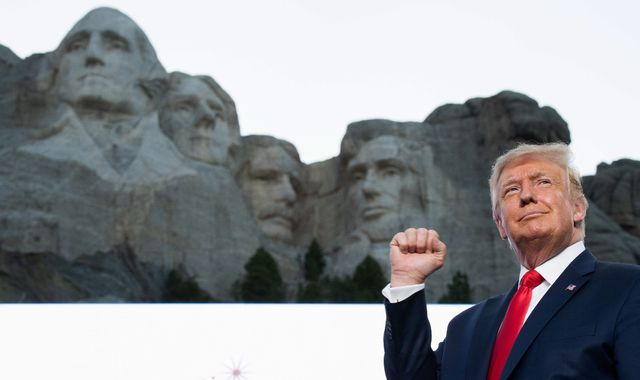 Trump blasts 'angry mobs' trying to tear down statues and 'wipe out' US history during Independence Day speech