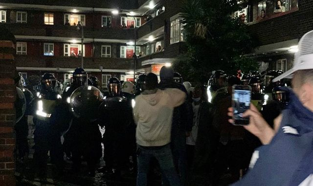 'We weren't doing anything wrong': Riot police break up illegal party in west London