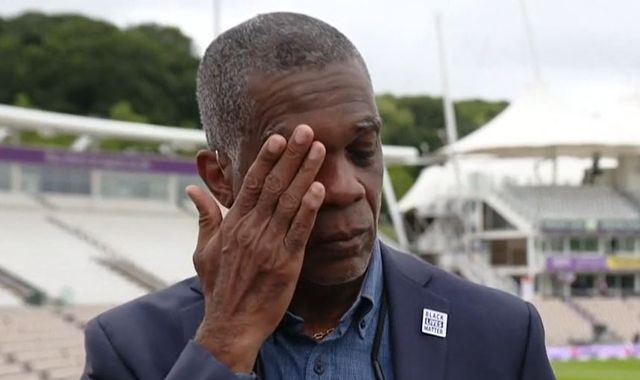 Michael Holding breaks down on camera discussing racism his parents faced