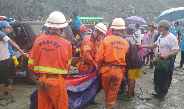 'I feel empty in my heart': Landslide at Myanmar jade mine kills at least 113 people