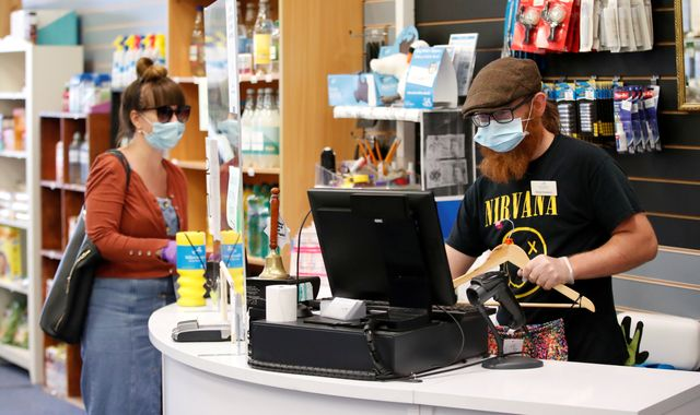 Coronavirus: Face masks 'absolutely a good idea' in shops but not compulsory
