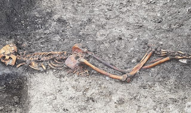 Skeleton of 'murdered' Iron Age man found during HS2 works in Buckinghamshire