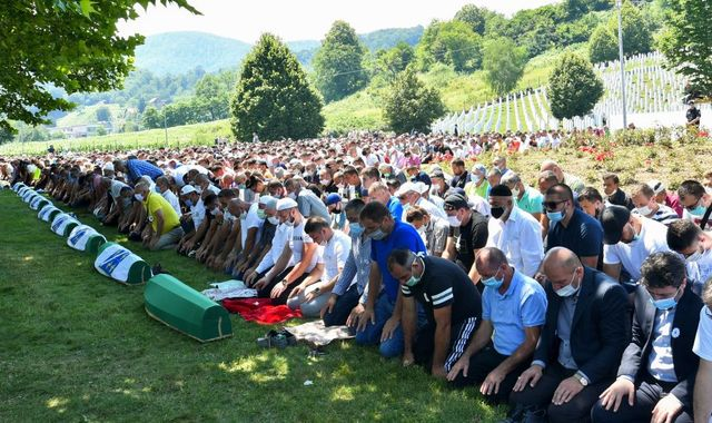 Srebrenica: Bosnians mark 25th anniversary since massacre when 8,000 men and boys were killed
