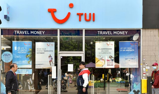 Coronavirus: Tui to shut 166 high street shops in UK and Ireland