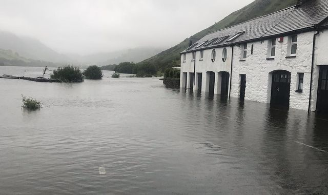 Flooding hits parts of Wales after hours of torrential rain