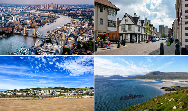 London, Devon and... Ipswich considered some of the world's best places to visit