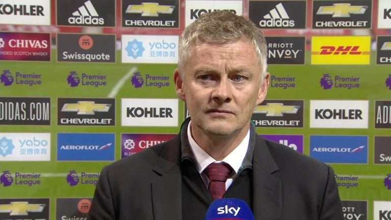 Ole Gunnar Solskjaer was disappointed to concede a last-minute equaliser, but felt his Manchester United side didn't do enough to deserve all three points
