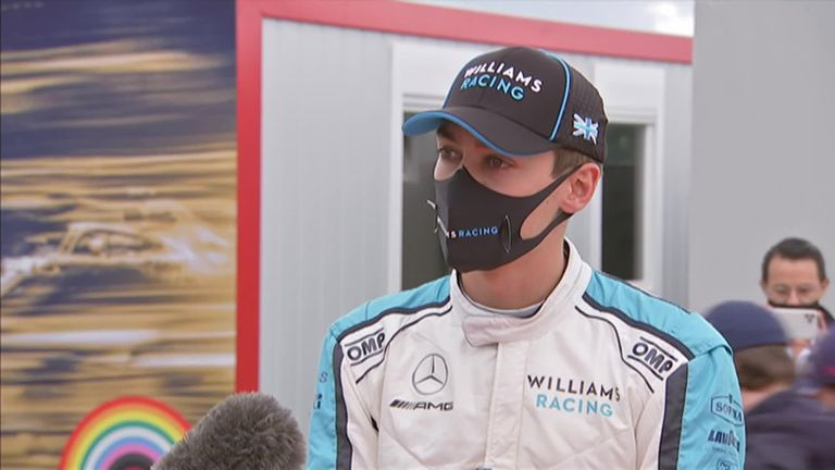Williams' George Russell was keen to defend his friend Alex Albon after the Red Bull driver struggled during qualifying for the Hungarian Grand Prix