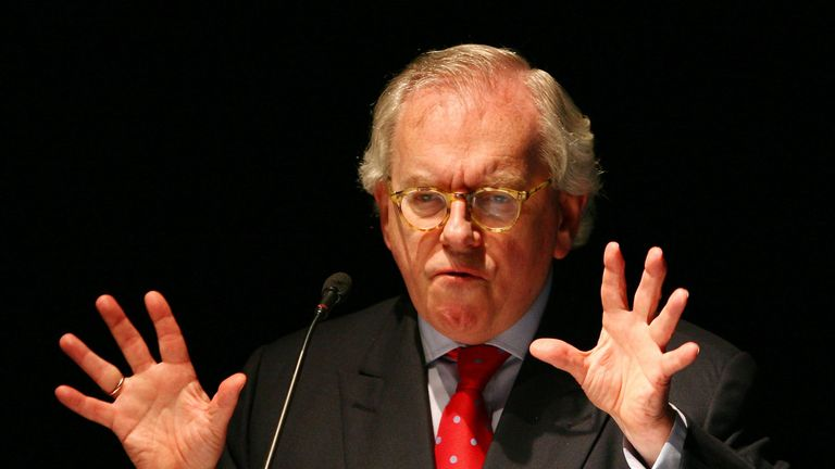 Dr David Starkey makes a speech during the Brighton College National Education Conference in Brighton, East Sussex.