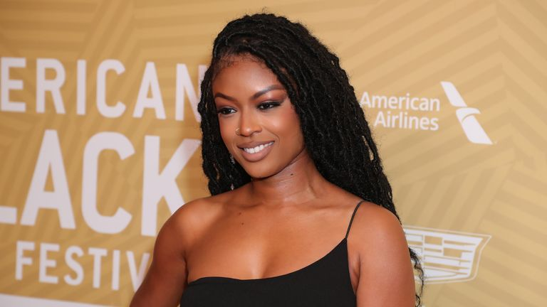 BEVERLY HILLS, CALIFORNIA - FEBRUARY 23: Javicia Leslie attends American Black Film Festival Honors Awards Ceremony at The Beverly Hilton Hotel on February 23, 2020 in Beverly Hills, California. (Photo by Leon Bennett/WireImage)