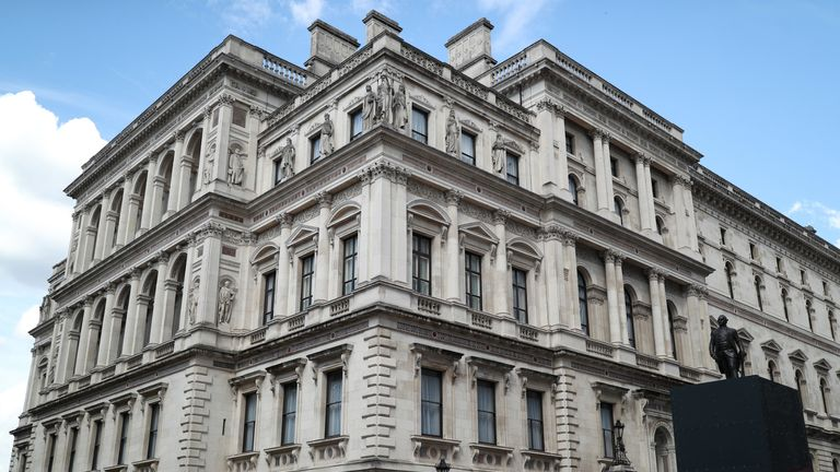 The Foreign & Commonwealth Office in Whitehall, London. Prime Minister Boris Johnson has announced that he has merged the Department for International Development (Dfid) with the Foreign Office, creating a new department, the Foreign Commonwealth and Development Office.