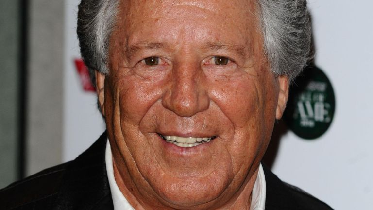 Mario Andretti arrives at the inaugural Motorsport Hall Of Fame held at the Roundhouse in Camden, London.