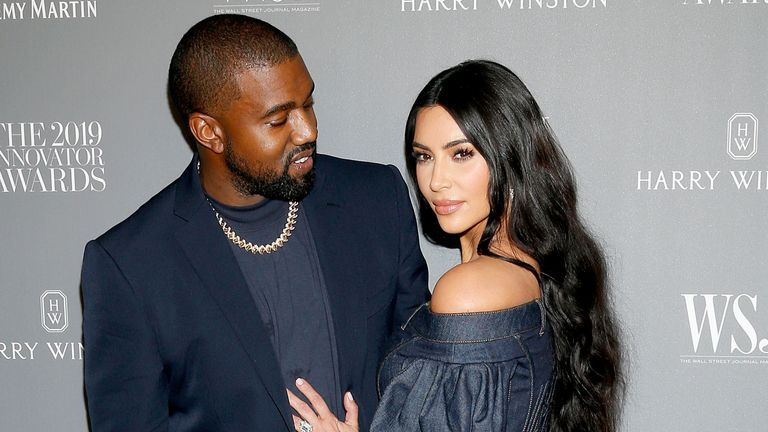 NEW YORK, NEW YORK - NOVEMBER 06: Kanye West and Kim Kardashian West attend the WSJ. Magazine 2019 Innovator Awards sponsored by Harry Winston and Rémy Martinat MOMA on November 06, 2019 in New York City. (Photo by Lars Niki/Getty Images for WSJ. Magazine Innovators Awards )