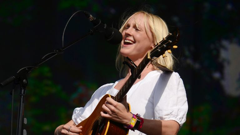 LONDON, ENGLAND - JULY 12: Laura Marling performs on stage in Hyde Park on July 12, 2019 in London, England. (Photo by Matthew Baker/Getty Images)