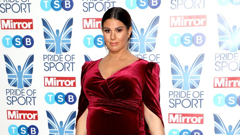 Rebekah Vardy attending the Pride of Sport Awards 2019 held in London.