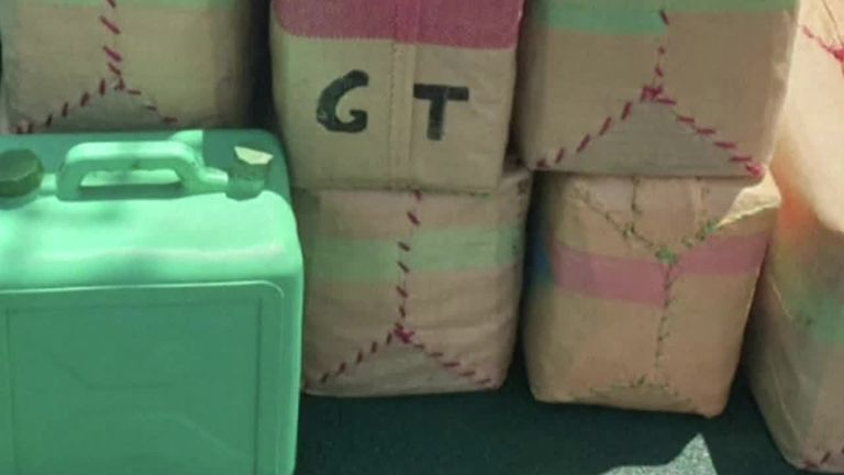 Guardia Civil confirmed the bags on the boat contained hashish.