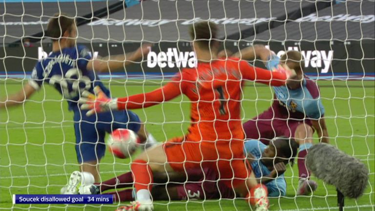James Collins and Ashley Cole analyse the controversial VAR decision to rule out West Ham defender Tomas Soucek's opener against Chelsea.