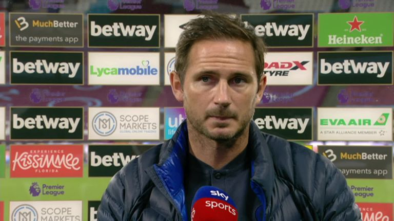 Chelsea boss Frank Lampard says he's frustrated by his team's lack of consistency following their 3-2 defeat to West Ham.