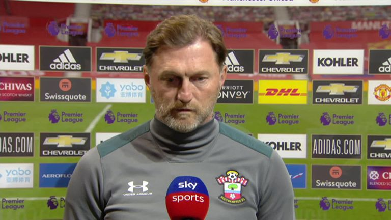 Southampton boss Ralph Hasenhuttl felt his side deserved to take a point from the game, after securing a 2-2 draw at Old Trafford with a stoppage-time equaliser