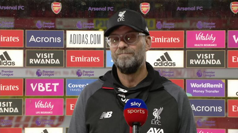 Liverpool's Jurgen Klopp says Liverpool can't win games in the Premier League if they make two major mistakes as they did against Arsenal