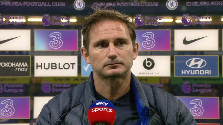 Frank Lampard says it was a comfortable evening in the end for Chelsea as they won 3-0 at home to Watford