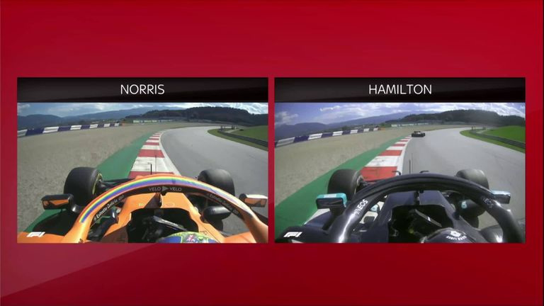 SkyPad analysis as Anthony Davidson compares the final-lap onboards of Lando Norris and Lewis Hamilton at the Austrian GP