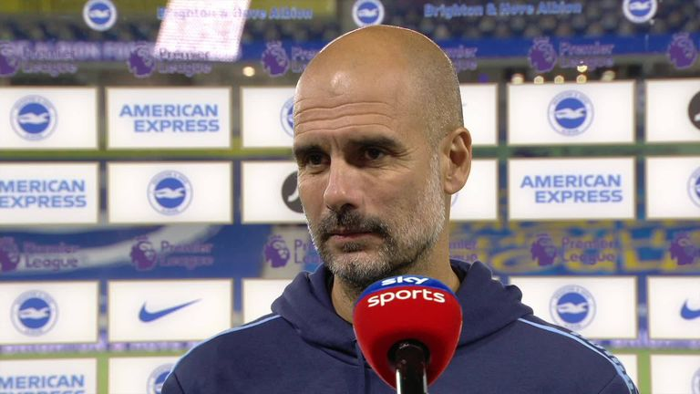 Pep Guardiola says his team are now ready for the final stages of the season following their emphatic win over Brighton
