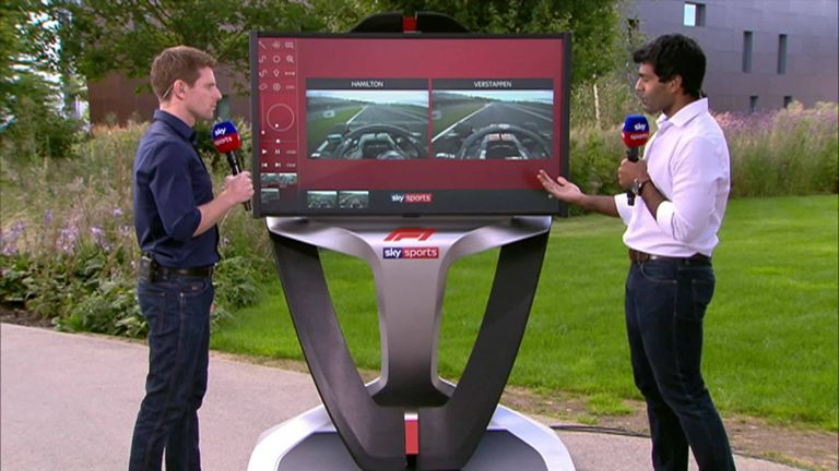 Sky F1's Anthony Davidson and Karun Chandhok compare Lewis Hamilton and Max Verstappen qualifying laps in Budapest