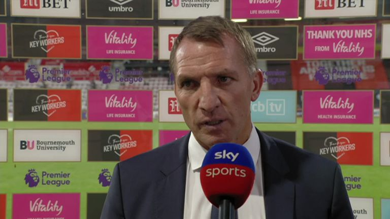 Leicester's Brendan Rodgers refuses to blame Kasper Schmeichel for the defeat at Bournemouth as he's 'bailed them out' several times this season.