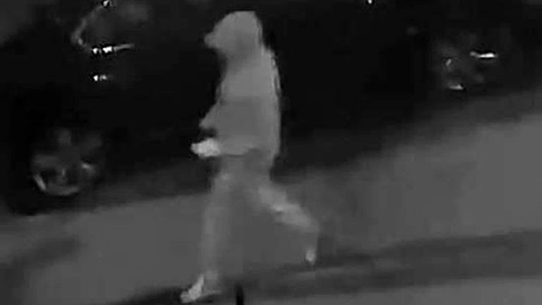 Aaron McKenzie was pictured on CCTV as he walked to his ex-girlfriend's house on the night of her death