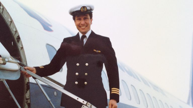 Alastair Rosenschein as a young first officer