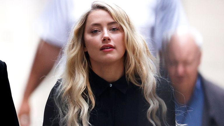 Actor Amber Heard arrives at the High Court in London, Britain July 28, 2020. REUTERS/John Sibley