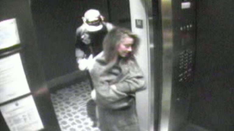Amber Heard has said she was being discreet after being asked whether she was attempting to hide from CCTV in a lift with Franco.