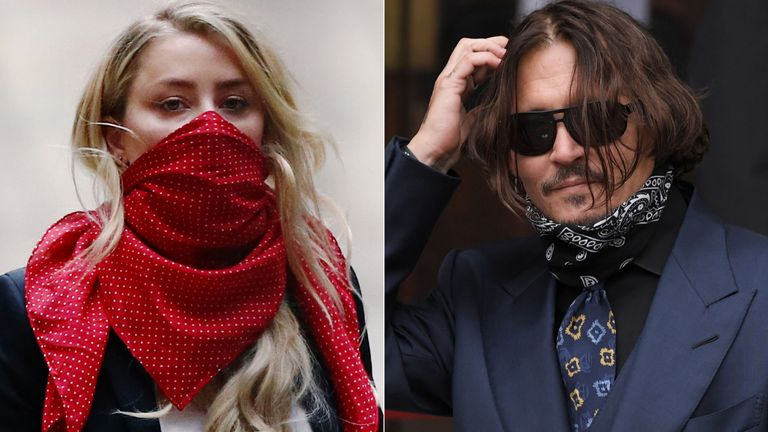 Amber Heard and Johnny Depp. Pics: Reuters/David Fisher/Shutterstock