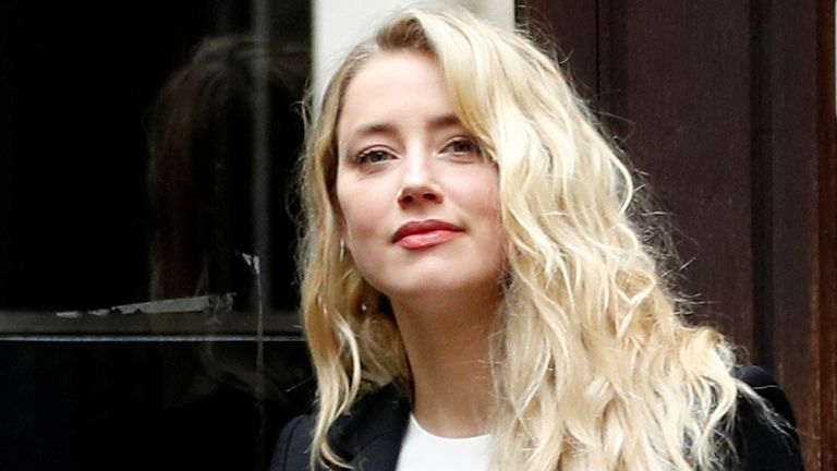 Amber Heard arrives at the High Court on 27 July