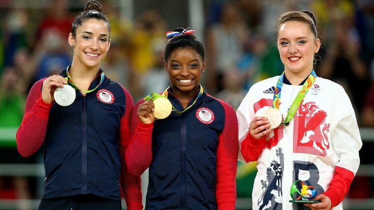 Britain's Amy Tinkler (right) won bronze in Rio de Janeiro in 2016