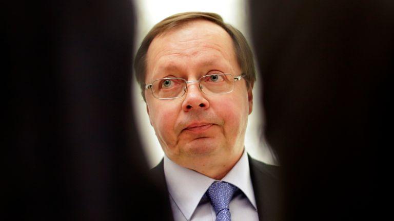 Russia's ambassador to London Andrey Kelin