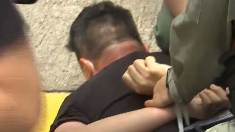 Man arrested during protest in Hong Kong