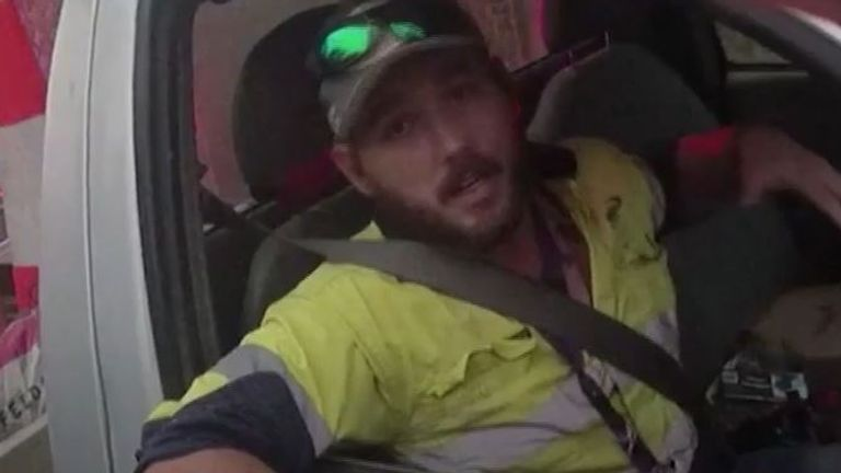 Man is pulled over by police for speeding but had been fighting one of the most deadly snakes on the planet