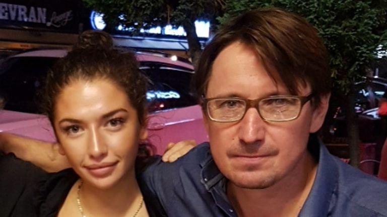 Azra Kemal with Sky News home editor Jason Farrell.